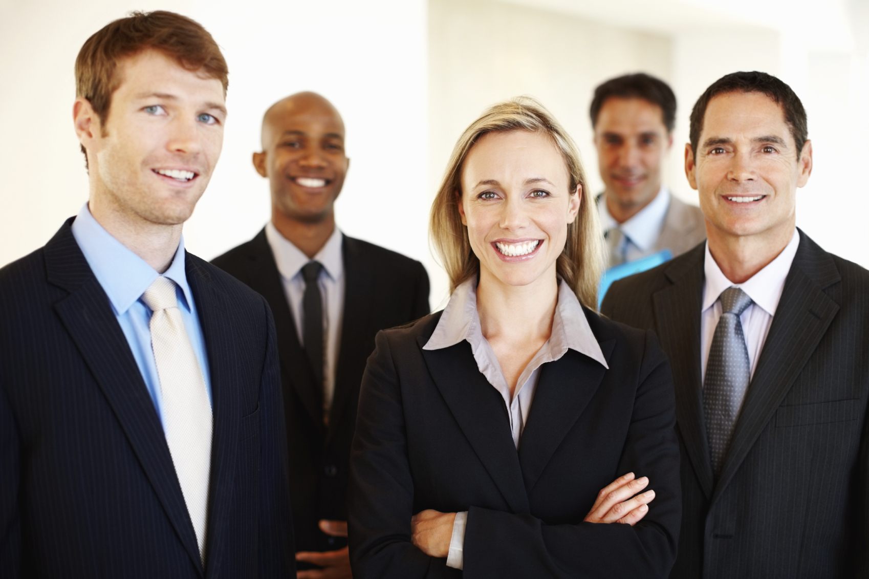 Business People Teamwork Concept Smiling Business Stock ...