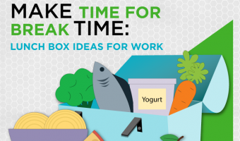 alf of Americans don't take a lunch break. This makes us less productive and more anxious and tired. Use our lunchbox ideas for fueling up during a proper lunch break at work.