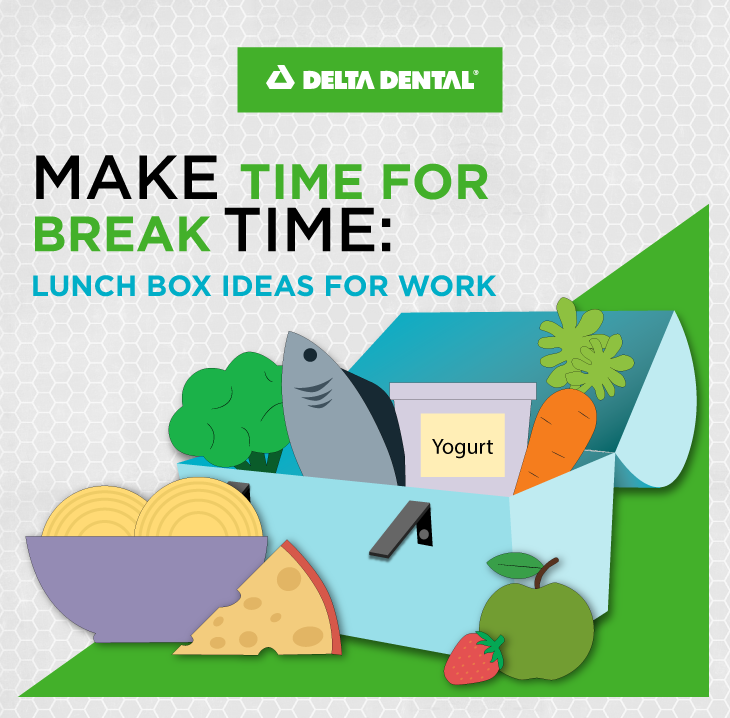 Half of Americans don't take a lunch break. This makes us less productive and more anxious and tired. Use our lunchbox ideas for fueling up during a proper lunch break at work.