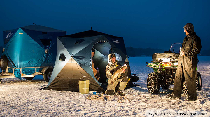 Smile safe snow adventures for wisconsin winters delta for Wisconsin ice fishing resorts