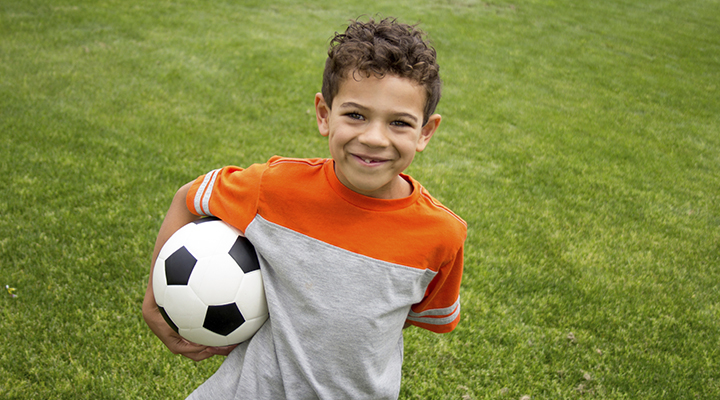 Future soccer stars need to protect their smiles!
