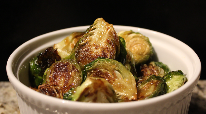Crispy Brussel sprouts with honey