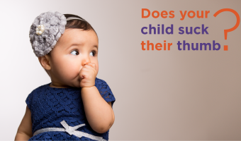 If your child is thumb-sucking, pay attention to changes in the mouth and the frequency of the thumb-sucking habit.