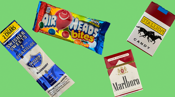 Packaging Similarities Between Tobacco + Candy