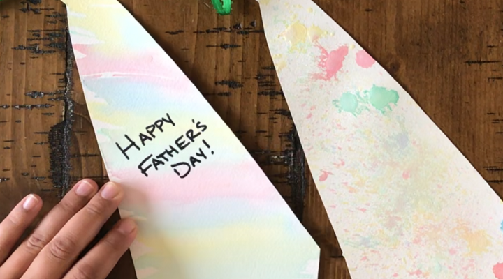 Father's Day Craft with Recycled Toothbrushes and Baking Soda Paints